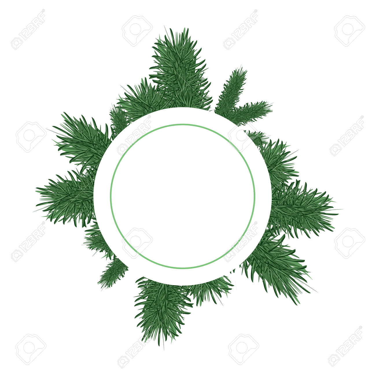 Christmas Branch Vector.Christmas Tree Branches Vector Background Transparent Illustration