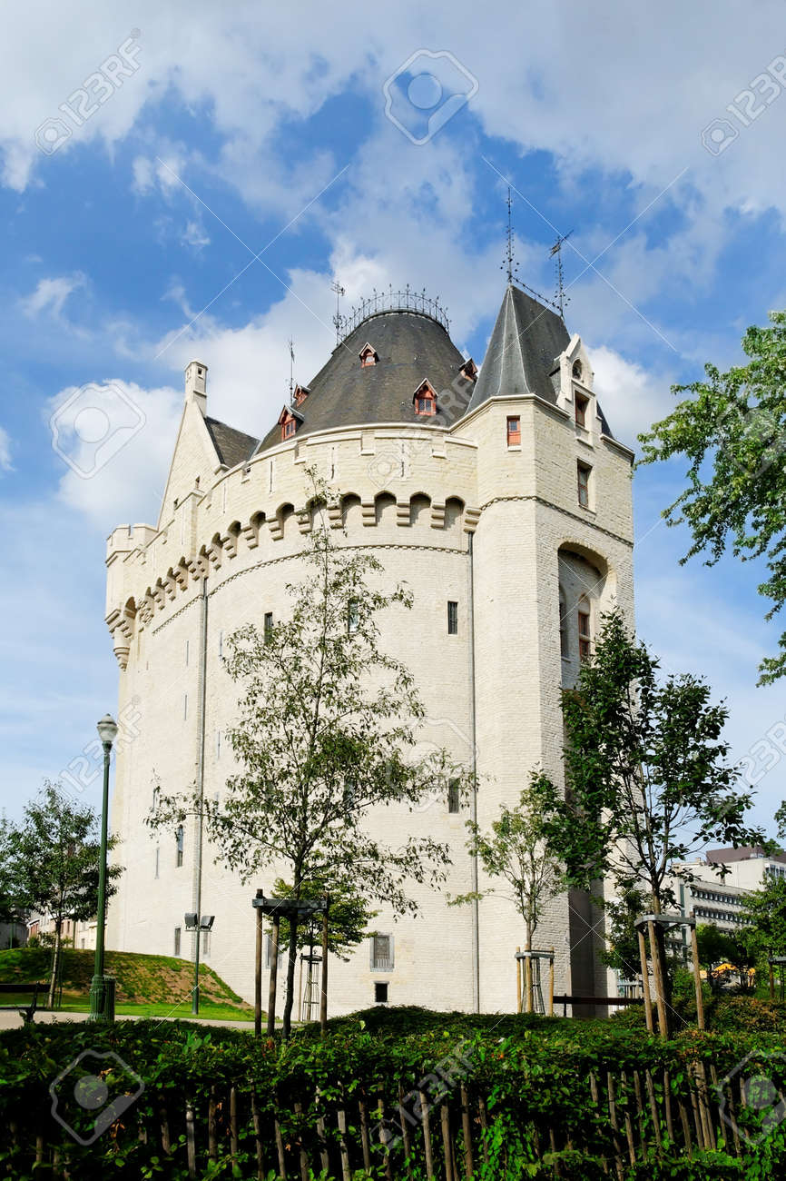 f725b8dc1f43 Castle In Brussels On Porte De Hal Station Stock Photo, Picture And ...