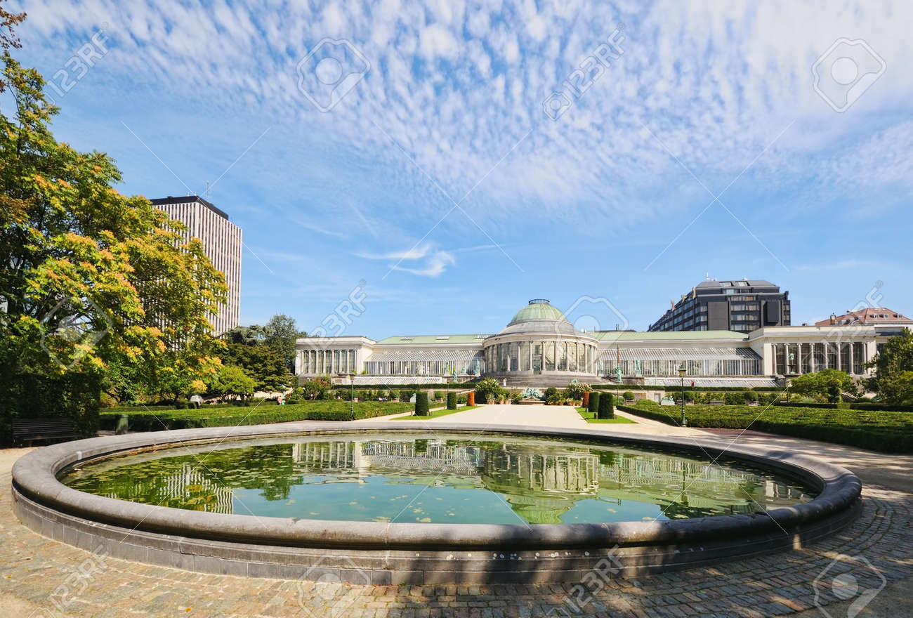 Historical Botanique Garden In Center Of Brussels, Belgium Stock Photo    16919060