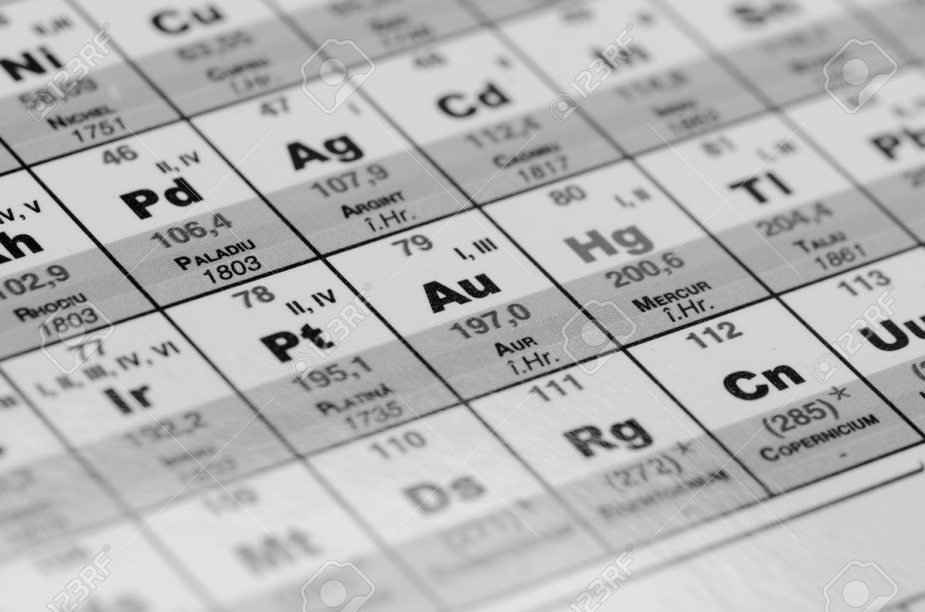 Periodic table close up black and white stock photo picture and periodic table close up black and white stock photo 15139506 gamestrikefo Choice Image