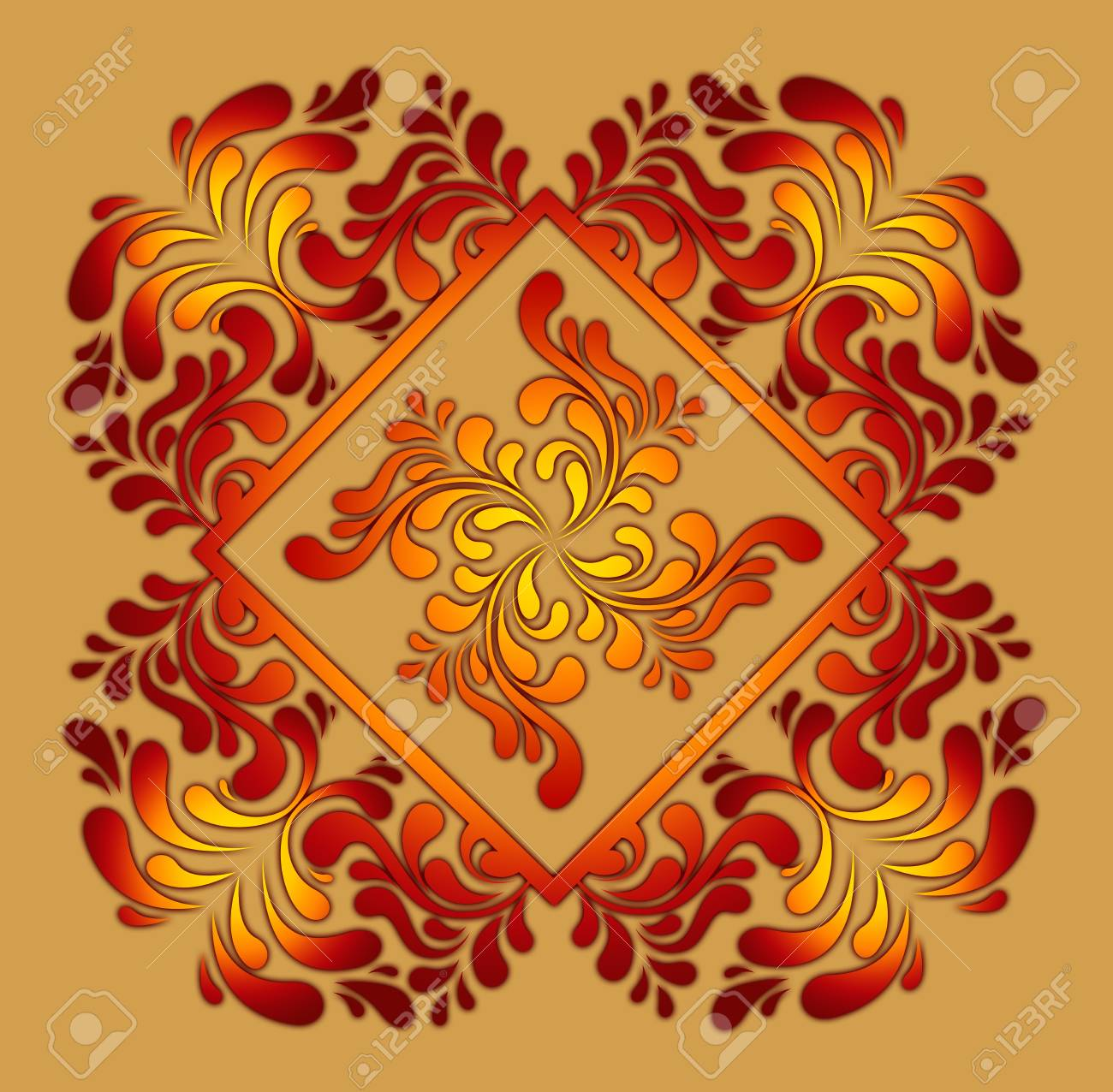 pattern in the manner of  twisted figures Stock Photo - 6654588