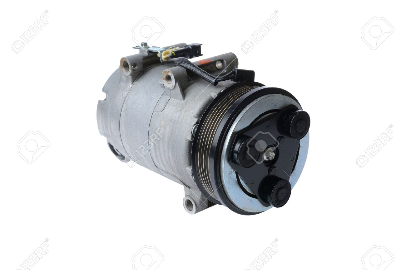 car air conditioning compressor. car air conditioning compressor on a white background,car parts stock photo - 35260760