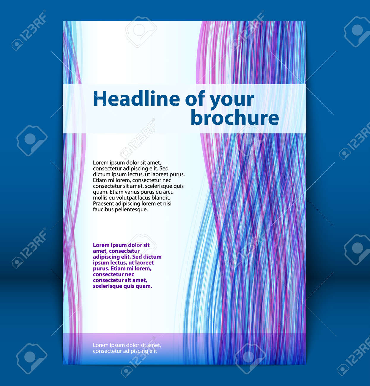 Cover of business brochure, flyer template  Vector illustration Stock Vector - 14021955