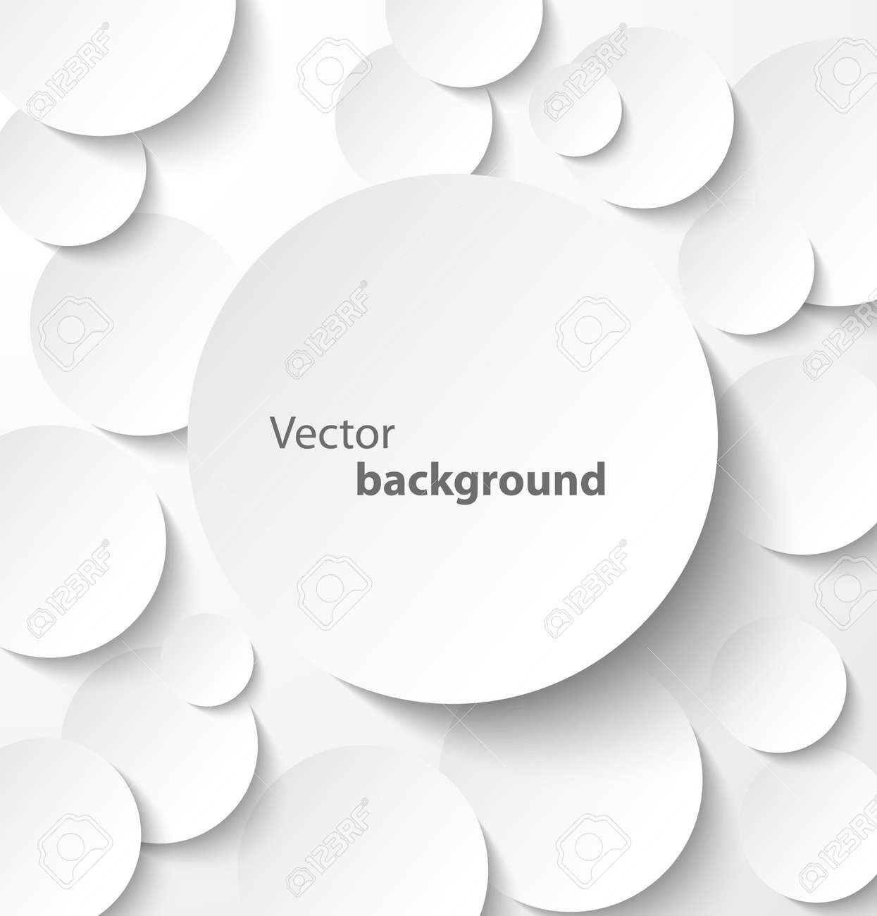Paper circle banner with drop shadows on abstract background Vector illustration - 16509870
