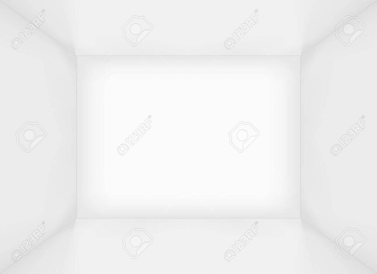 White simple empty rectangle room interior or box - 16884445