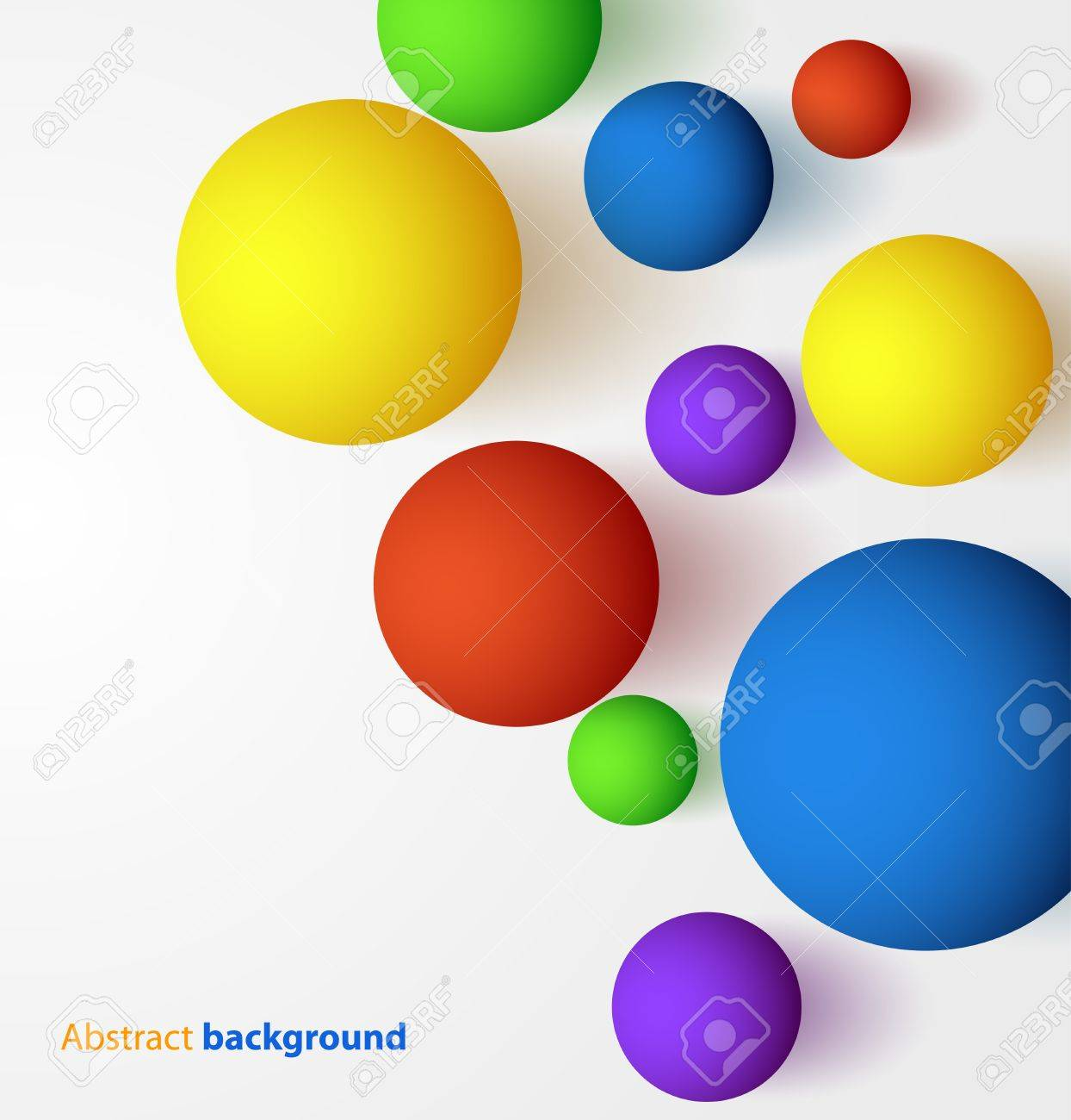 Abstract 3D colorful spherical background Stock Vector - 16884448
