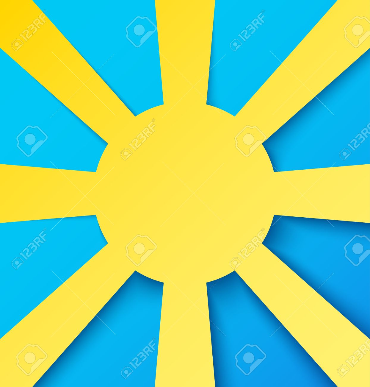 Abstract paper sun on blue sky. Vector illustration Stock Vector - 18386878