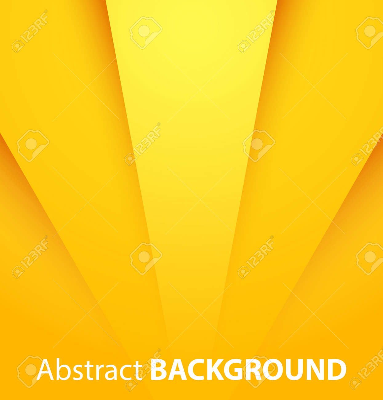 Abstract yellow paper background with shadow. Vector illustration - 24231384