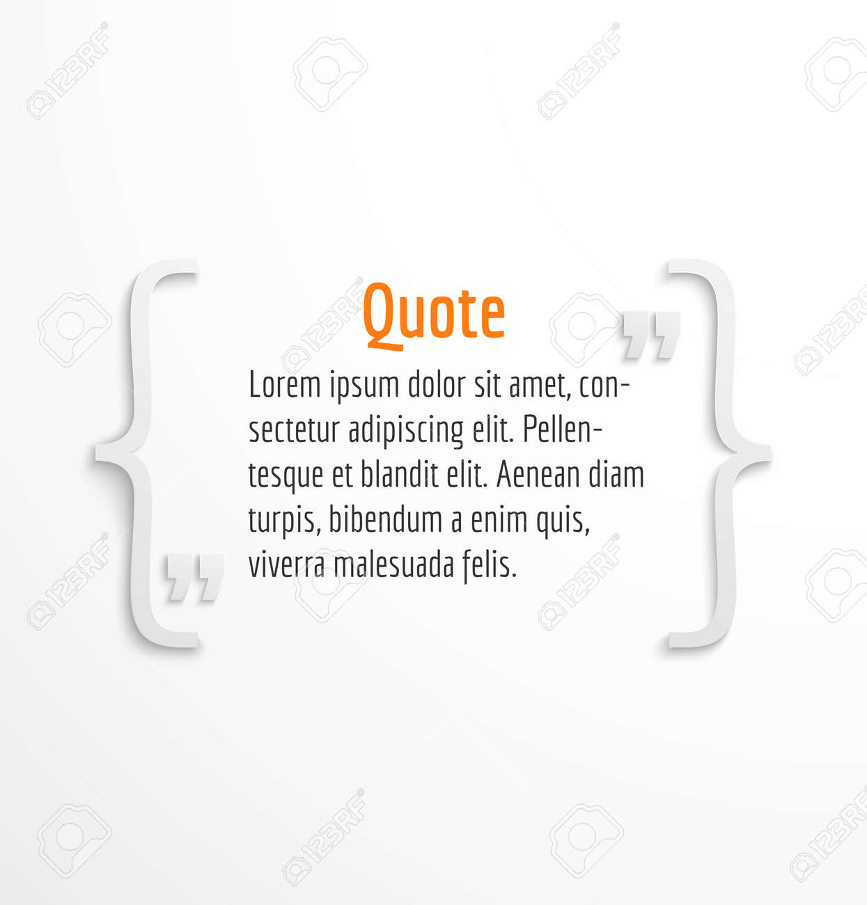 Quote blank with text message bubble, dialog box template on