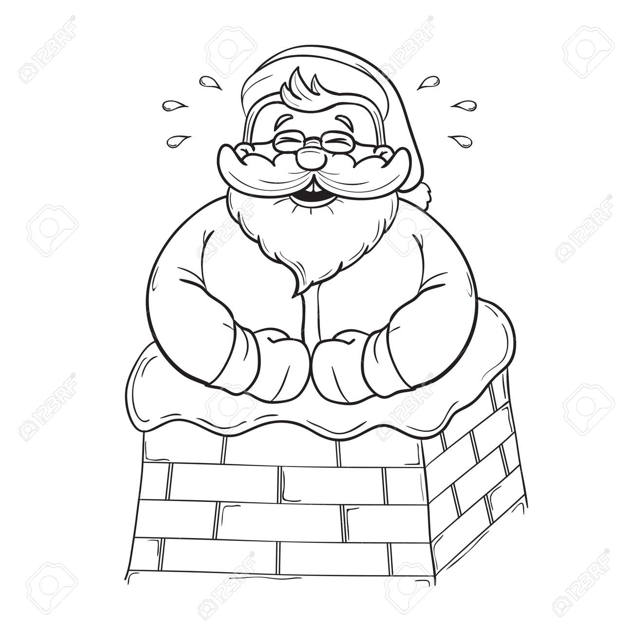 Santa In A Chimney Template - Best Chimney 2018