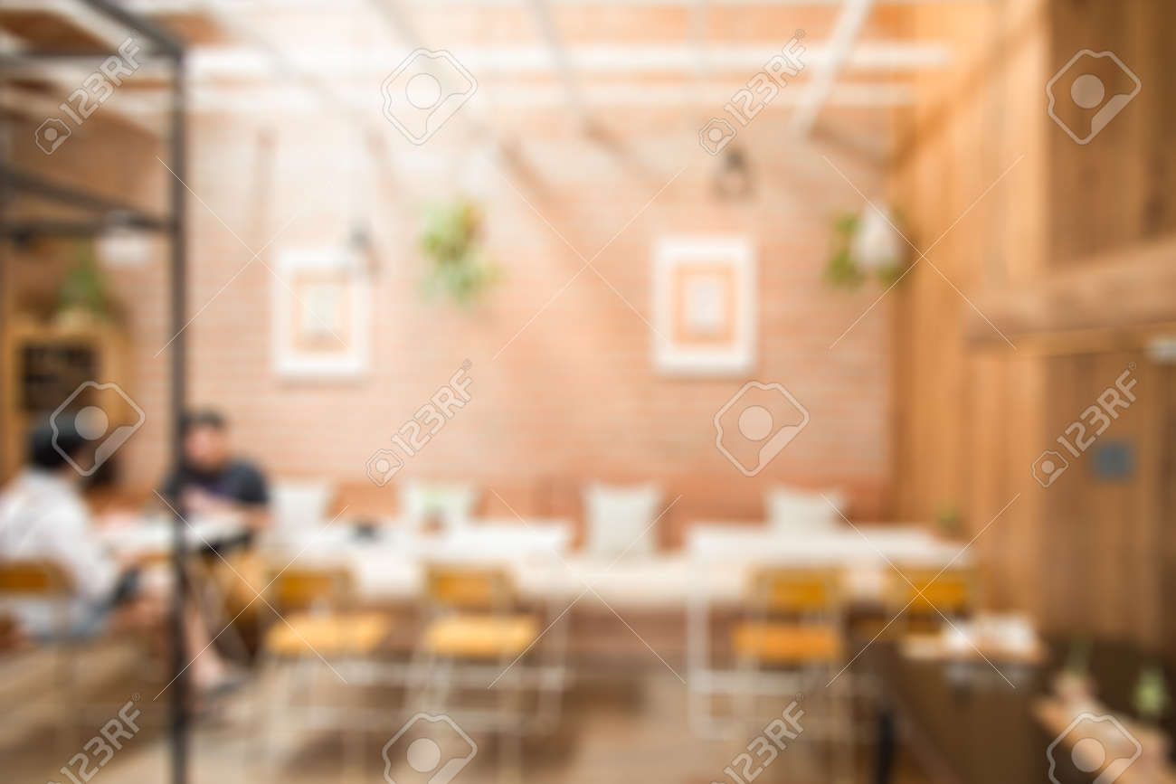Blurred Background Of Modern Wooden Wall Coffee Shop Or Cafe Stock Photo Picture And Royalty Free Image Image 86861989