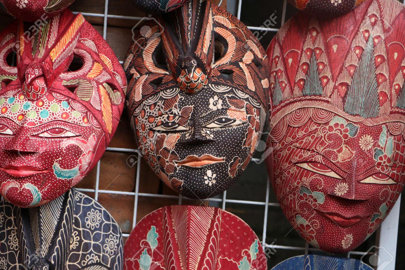 Souvenir Shop Selling Handicrafts Of Bali At Ubud Market Traditional
