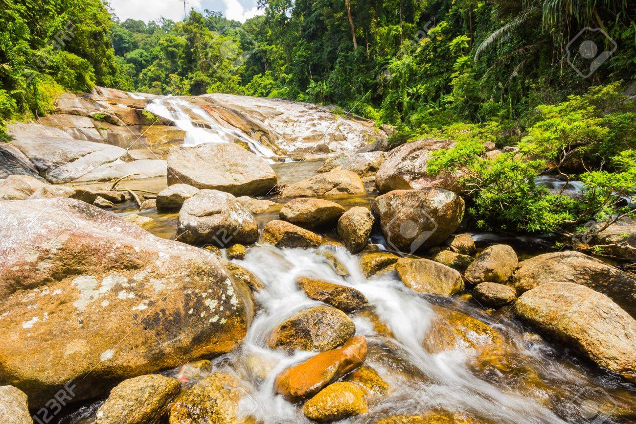 Karome Waterfall at khao luang National Park, Southern Thailand Stock Photo - 15847666
