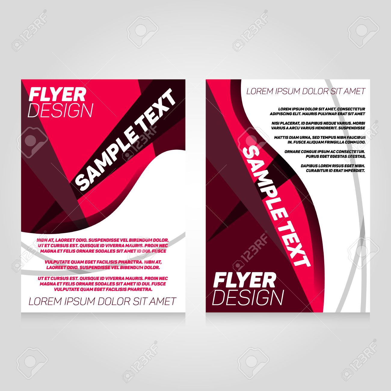 Brochure Flier Design Template Vector Concert Poster Illustration Leaflet Cover Layout In A4 Size