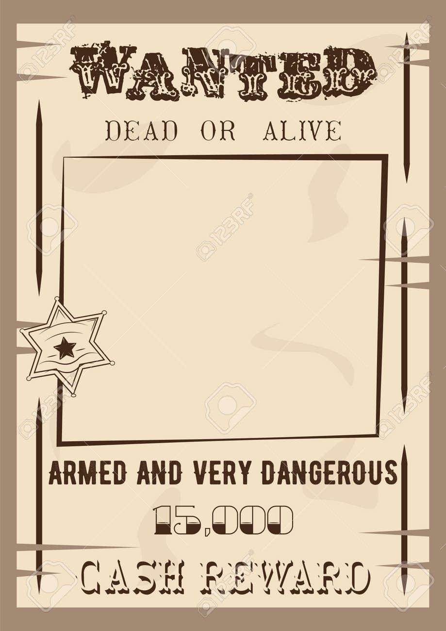 Gewünschtes Plakat Vorlage Vektor-Illustration Im Vintage-Stil ...