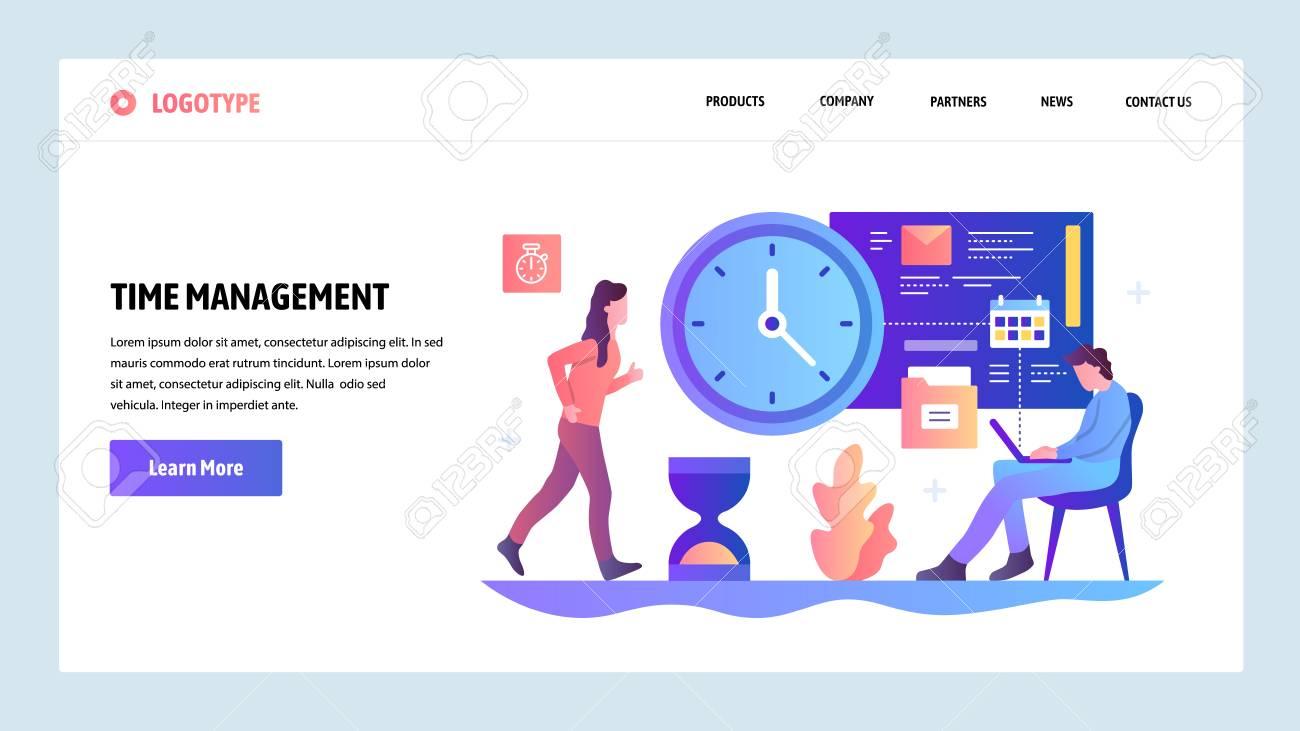 Project Design Template | Vector Web Site Design Template Time Management Concept Business