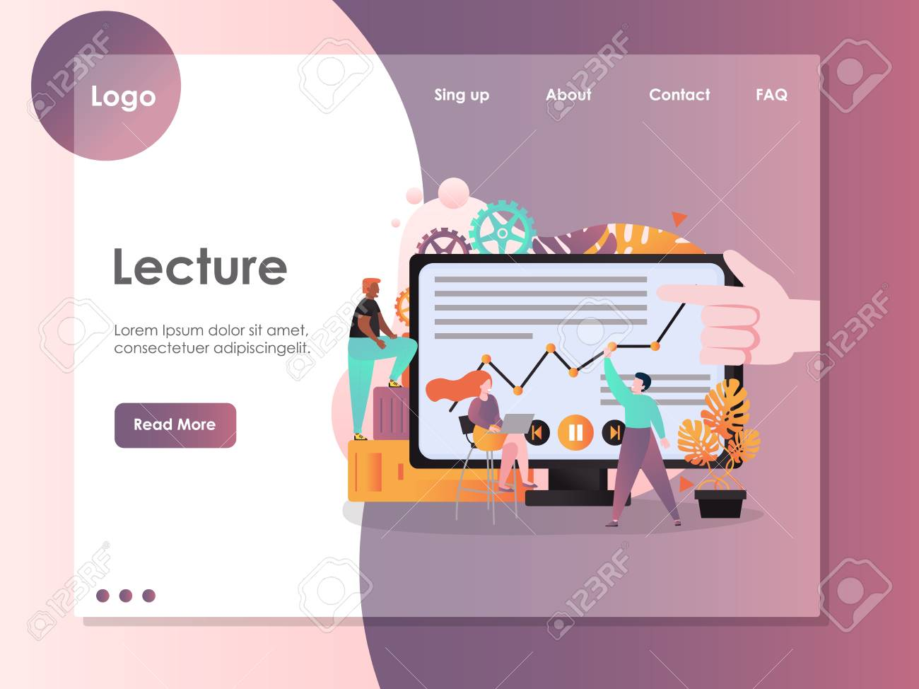 Lecture Vector Website Template Web Page And Landing Page Design Royalty Free Cliparts Vectors And Stock Illustration Image 120798798