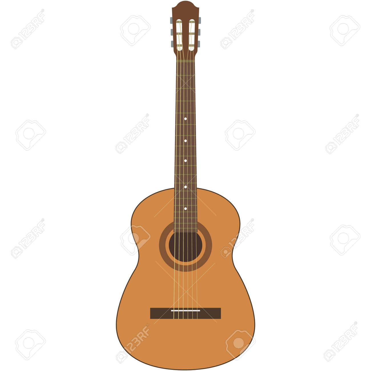 Vector guitar illustration acoustic music instrument on white - 168274264