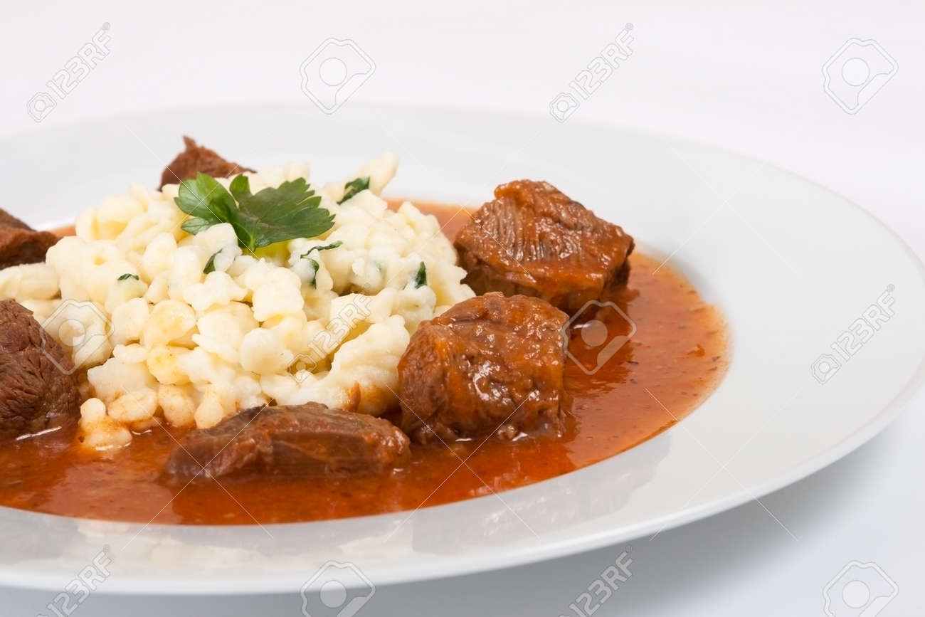 Beef Goulash With Noodles Stock Photo 7090112