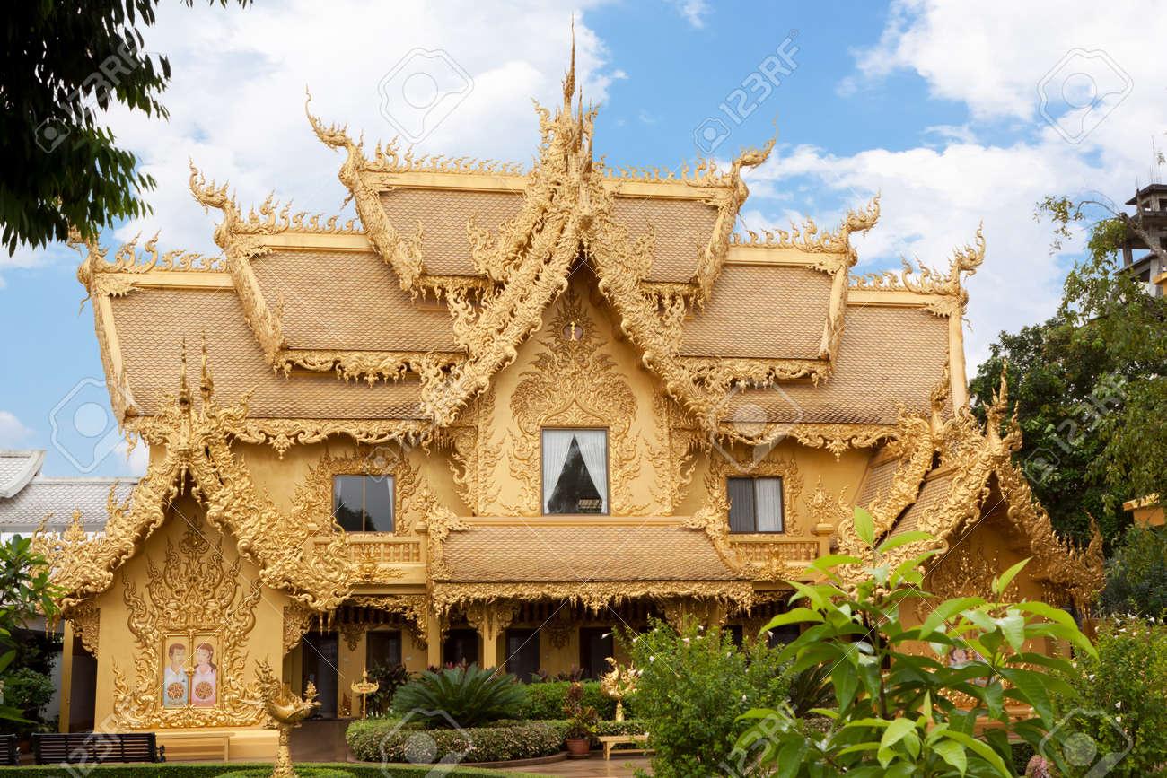 Golden House At The Wat Rong Khun In Chiang Rai; Thailand Stock Photo    11872210