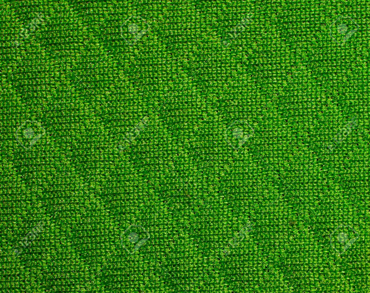 Textura Verde De La Tela Con El Patrón De Diamante. Textura Con ...