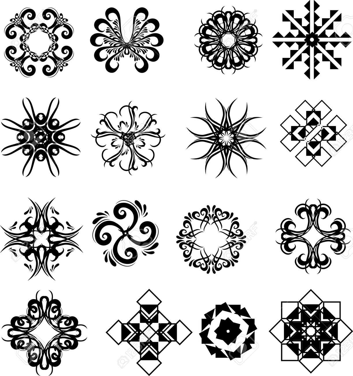 Big Black Set Of Graphic Ornamental Frames Royalty Free Cliparts ...