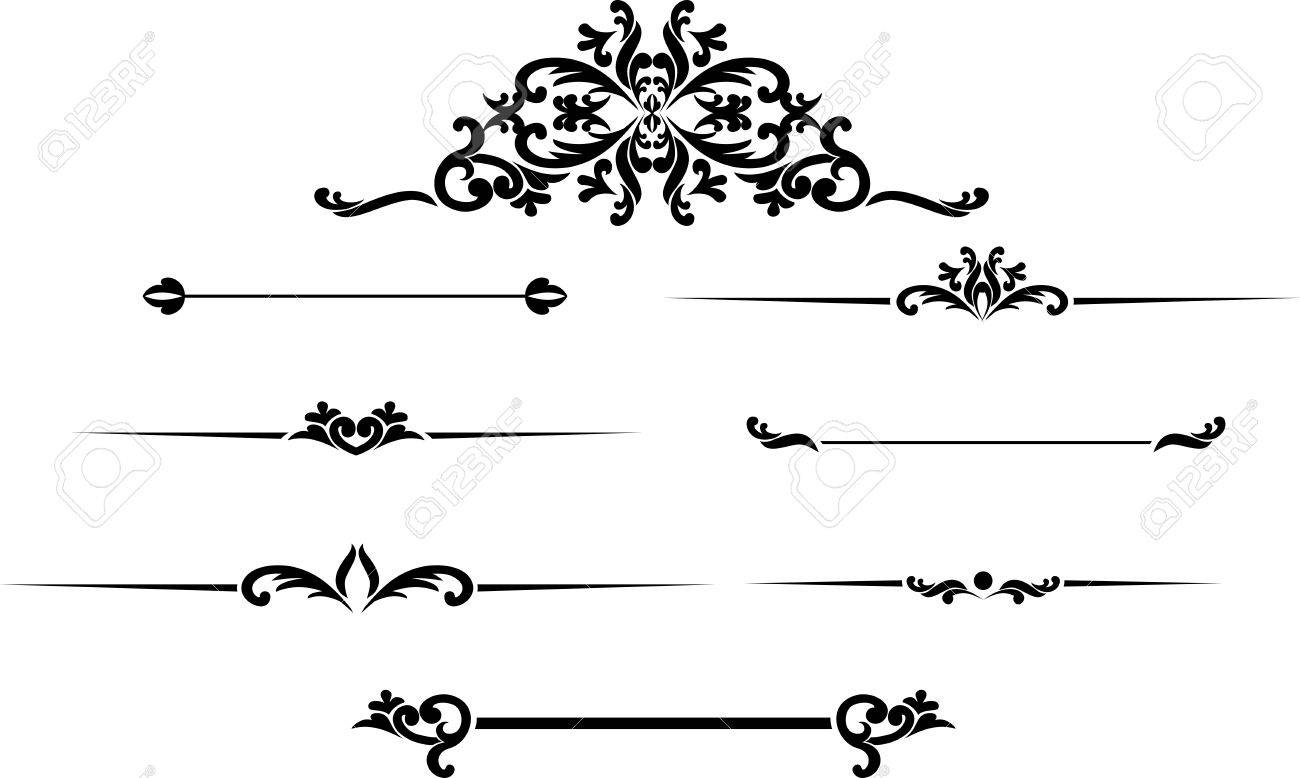 Set Of Black Hand Drawn Vintage Frames For Text Decoration Royalty