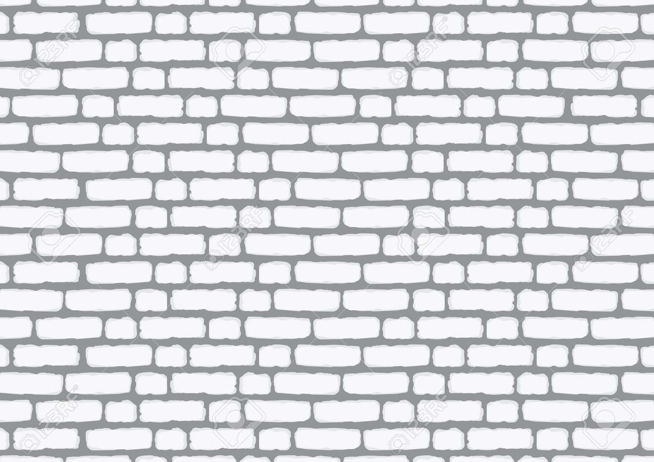 Wall of white brick. Background for decoration illustration. - 97629101
