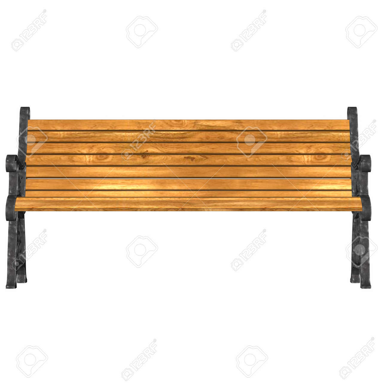 3d Render Of A Park Bench At 600 Dpi Stock Photo Picture And