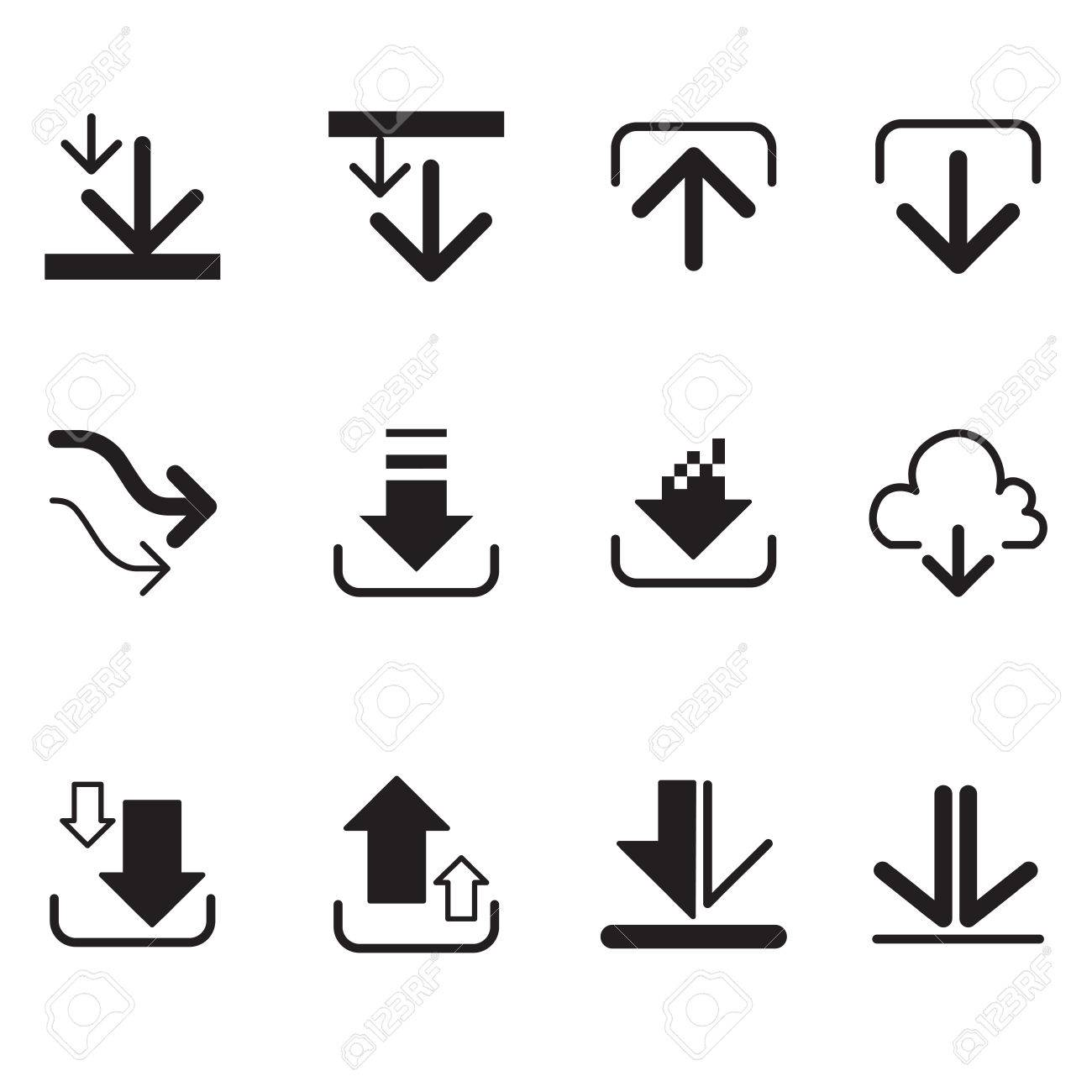 Upload button loading symbol circles and arrow buttons vector loading symbol circles and arrow buttons vector icons stock vector 52039716 biocorpaavc Image collections
