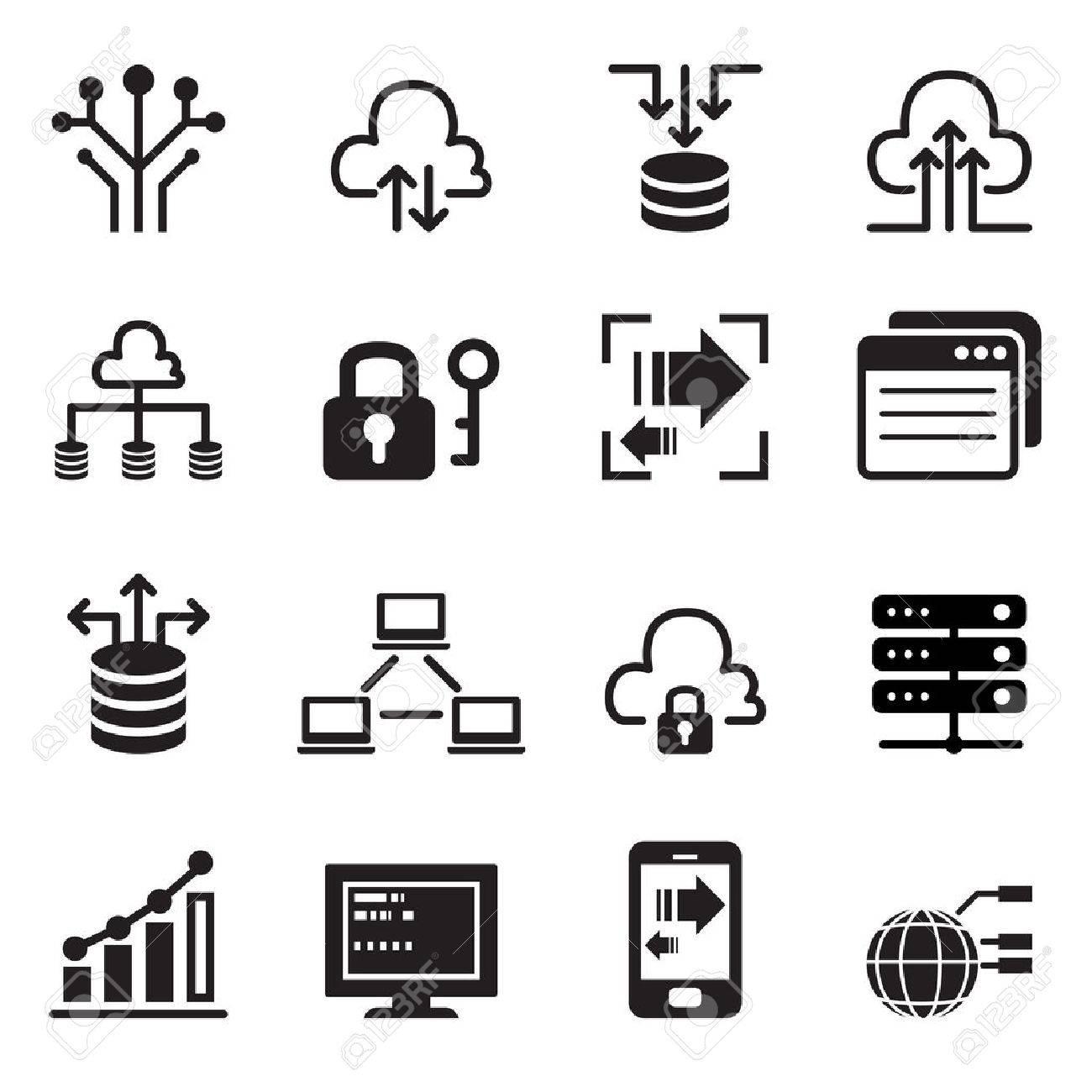Data Technology icons set - 52044047