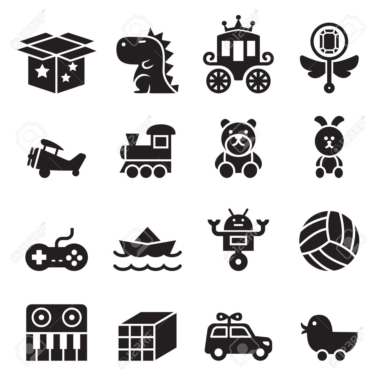 toy icon set royalty free cliparts vectors and stock illustration
