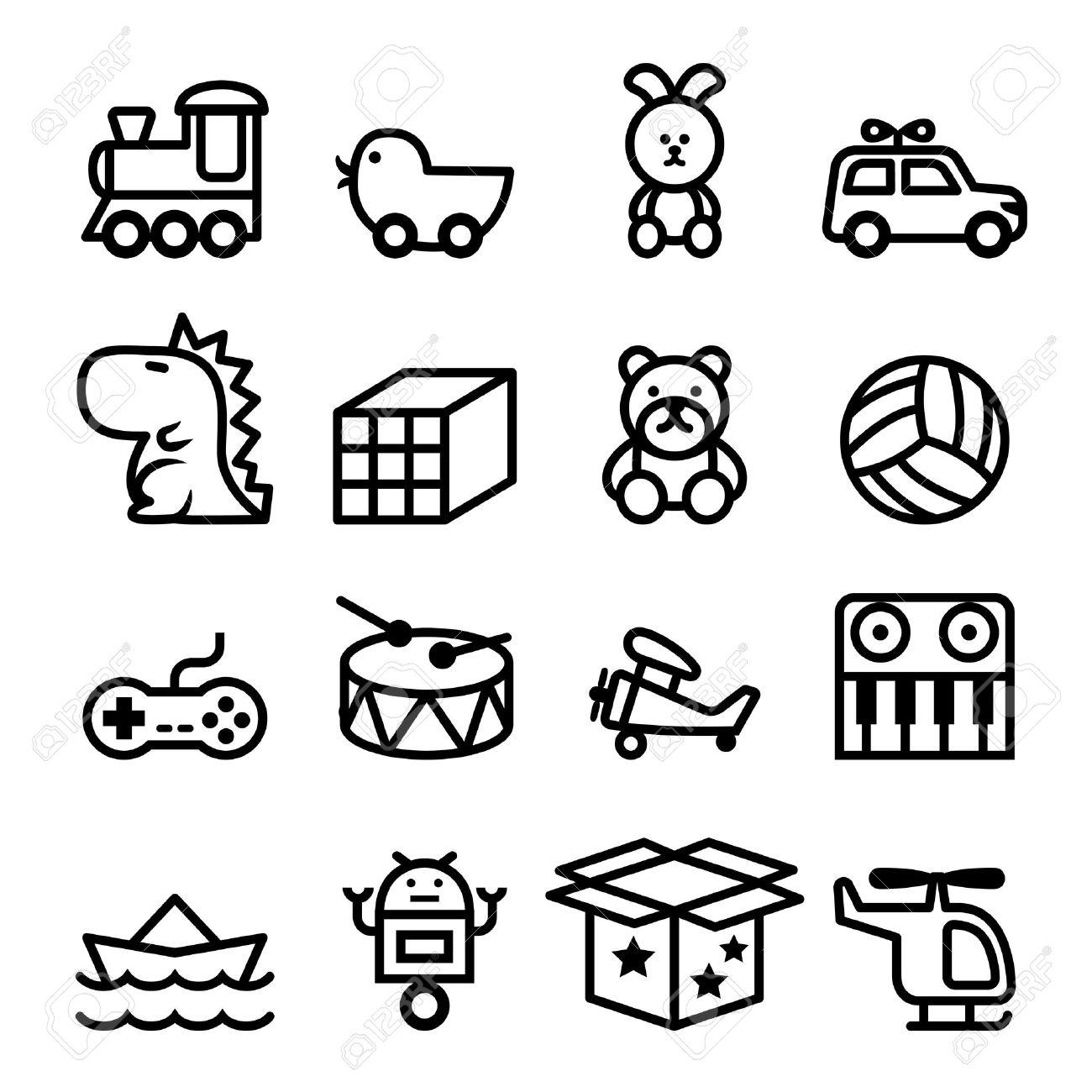 Outline Toy icon set - 52045142
