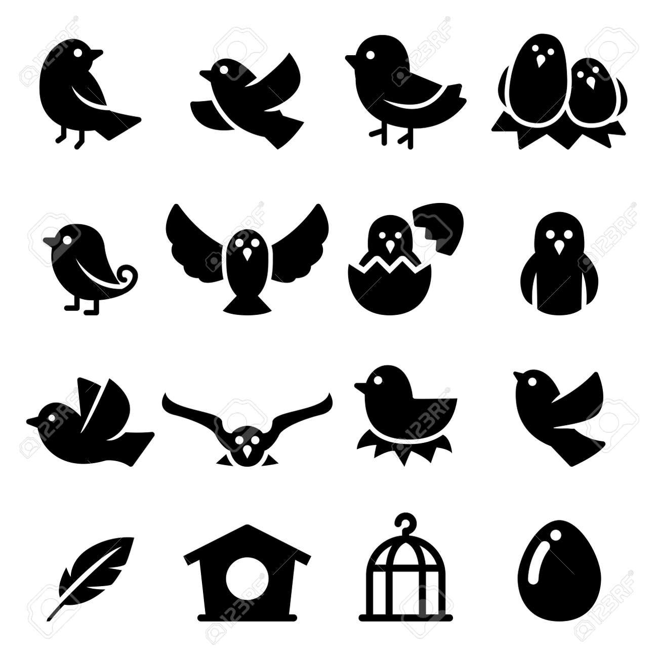 Bird Silhouette icon - 55551114