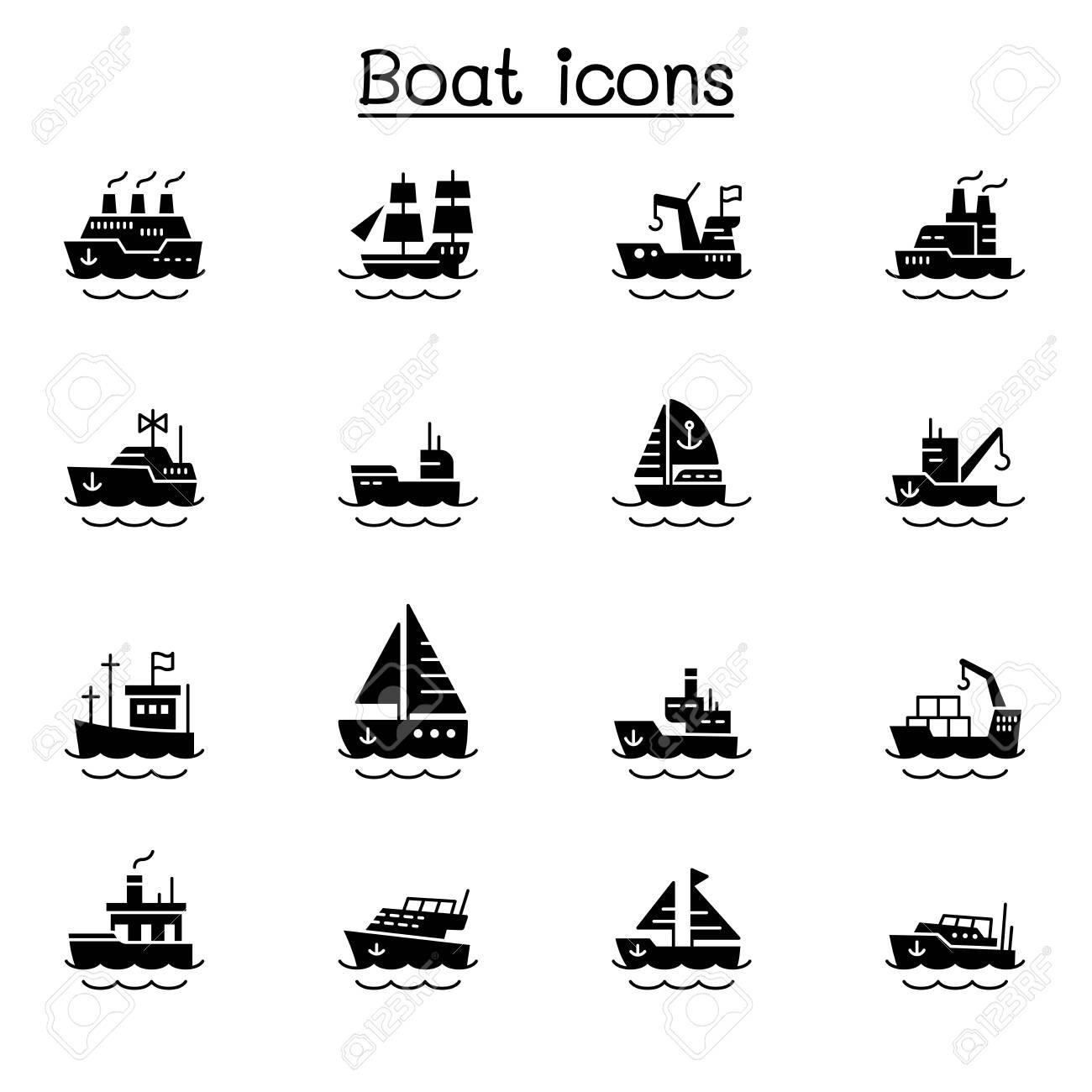 Boat icons vector illustration graphic design - 159450468