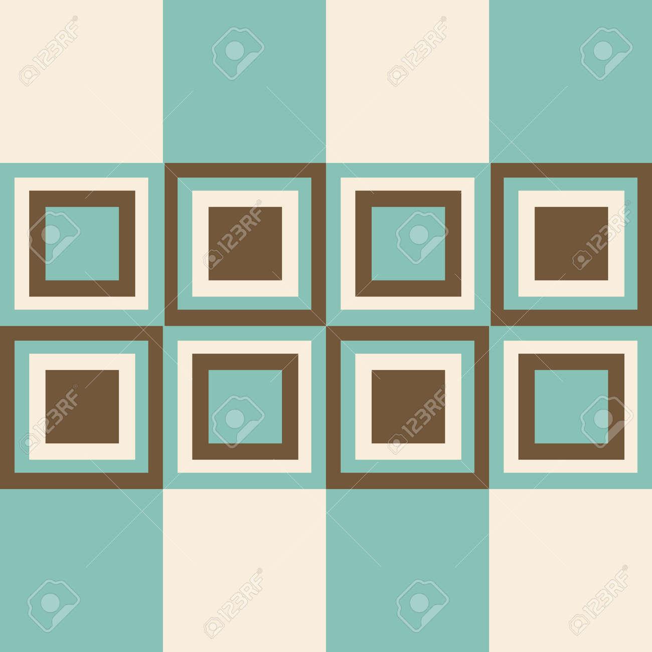 Fashion Geometrischen Muster Im Retro Farben Nahtlose Hintergrund