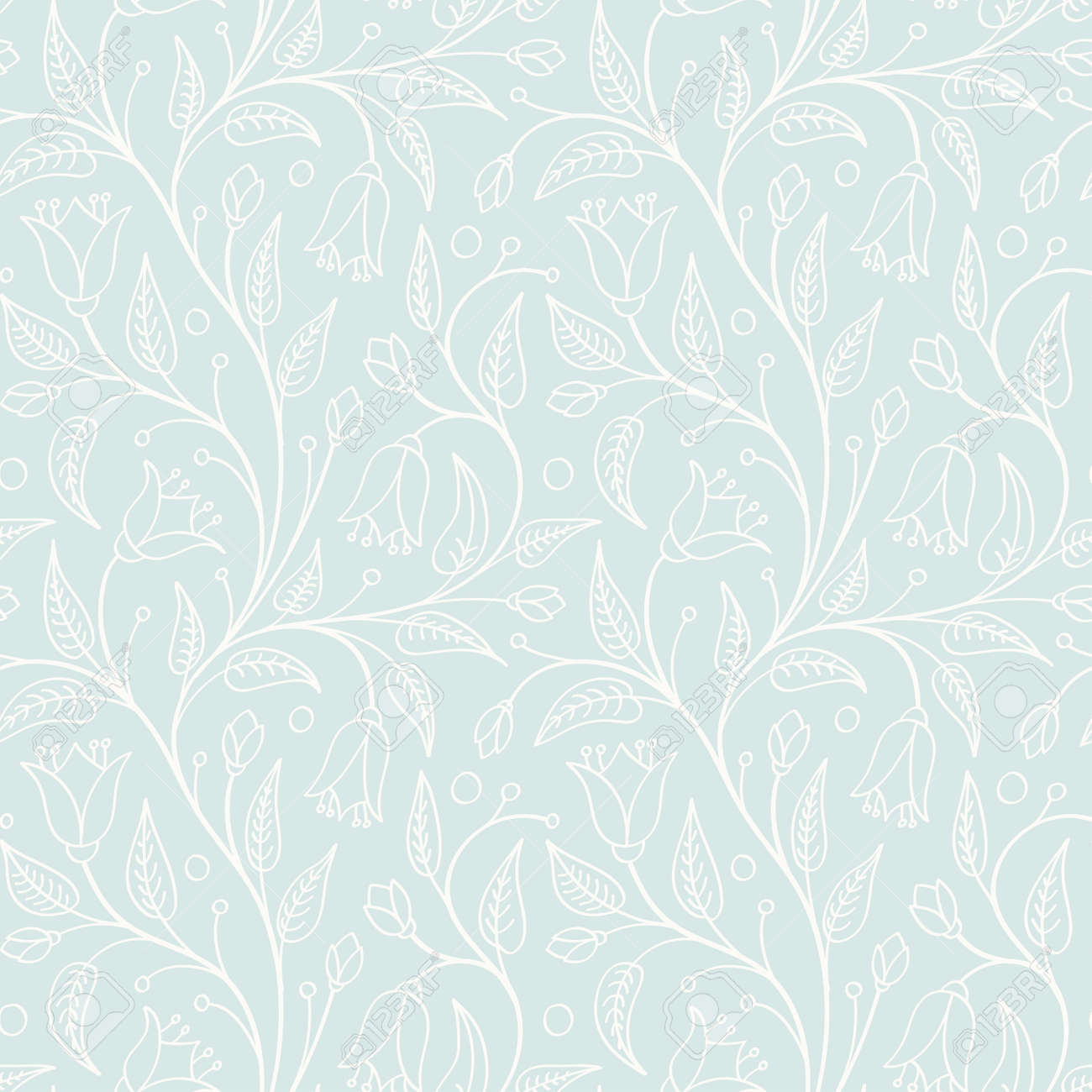 Seamless floral pattern in light retro colors For wallpaper, pattern fills,  web page background 3f1cb8ed844d