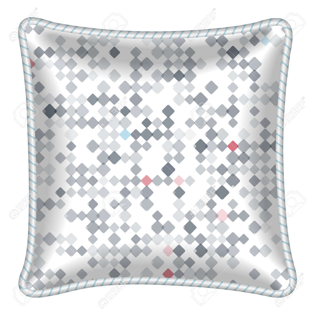 Interior Design Element Decorative Pillow Patterned Pillowcase Small Spots Geometric Pattern