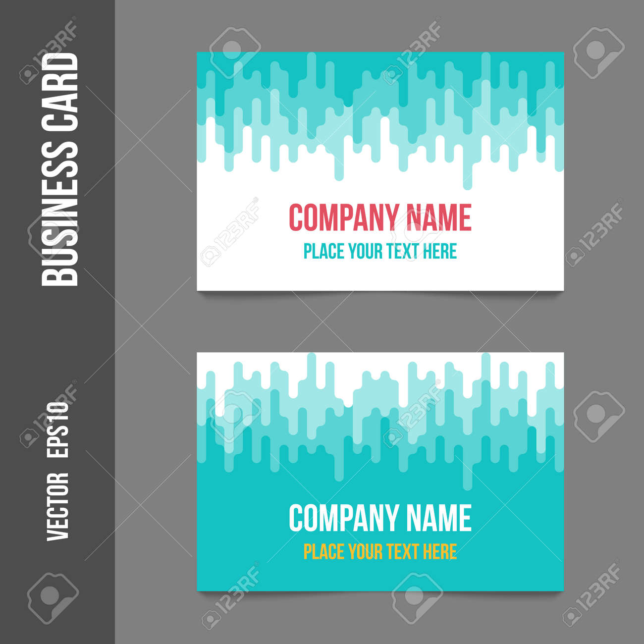 Corporate Identity Business Cards For Company Or Event Business