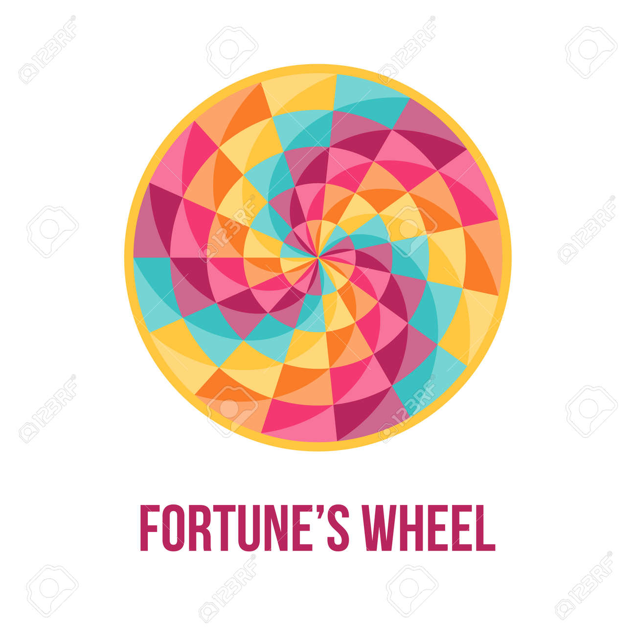 Fortune wheel symbol of good luck with bstract geometric fortune wheel symbol of good luck with bstract geometric pattern vector illustration biocorpaavc Choice Image