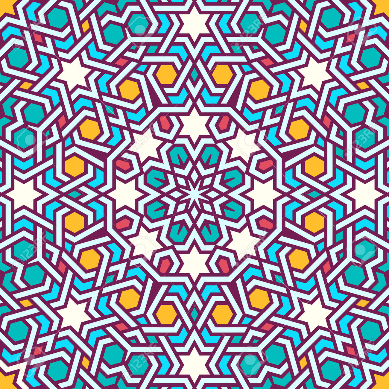Tangled Modern Pattern, Based On Traditional Oriental Arabic ... for Modern Arabic Pattern Vector  186ref