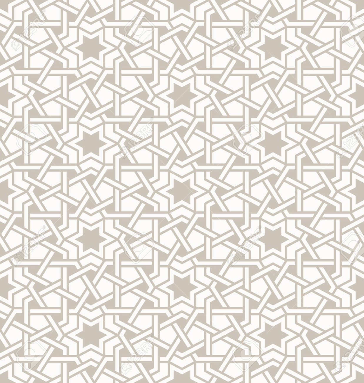 Tangled modern pattern, based on traditional oriental arabic