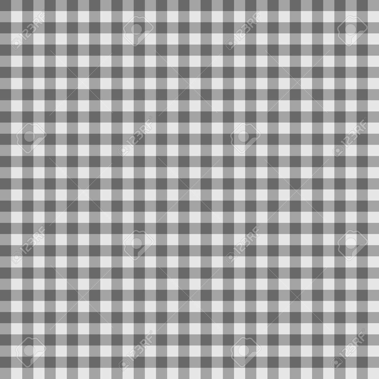 グレー色のギンガム チェック柄市松模様のシームレス パターン 抽象的な幾何学的な背景 のイラスト素材 ベクタ Image
