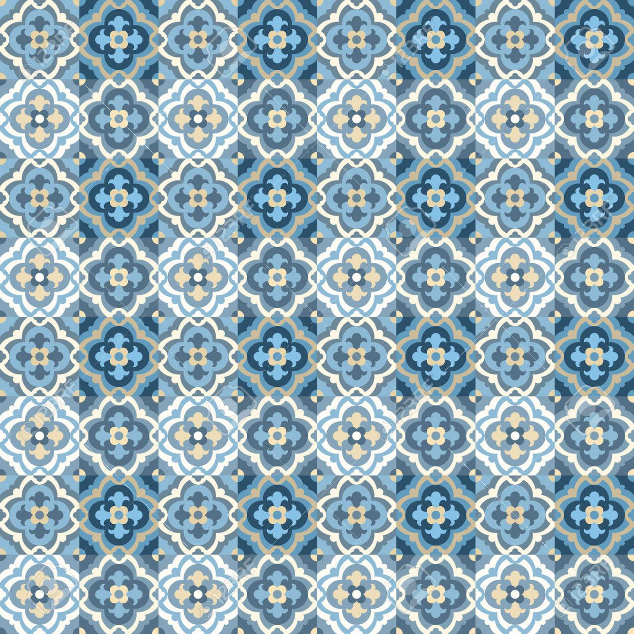 Floor Tiles - Seamless Vintage Pattern With Quatrefoils. Patchwork ...