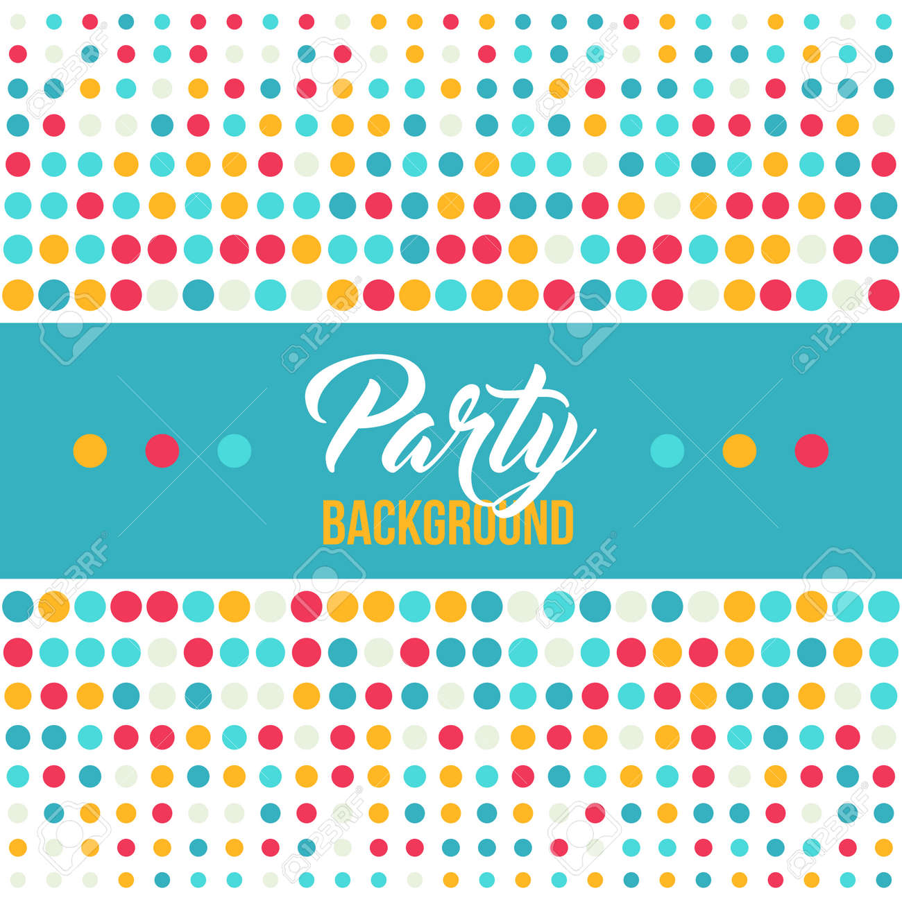Multicolored Dot Background For Disco Party Poster Or Event Invitation Abstract Colorful Polka
