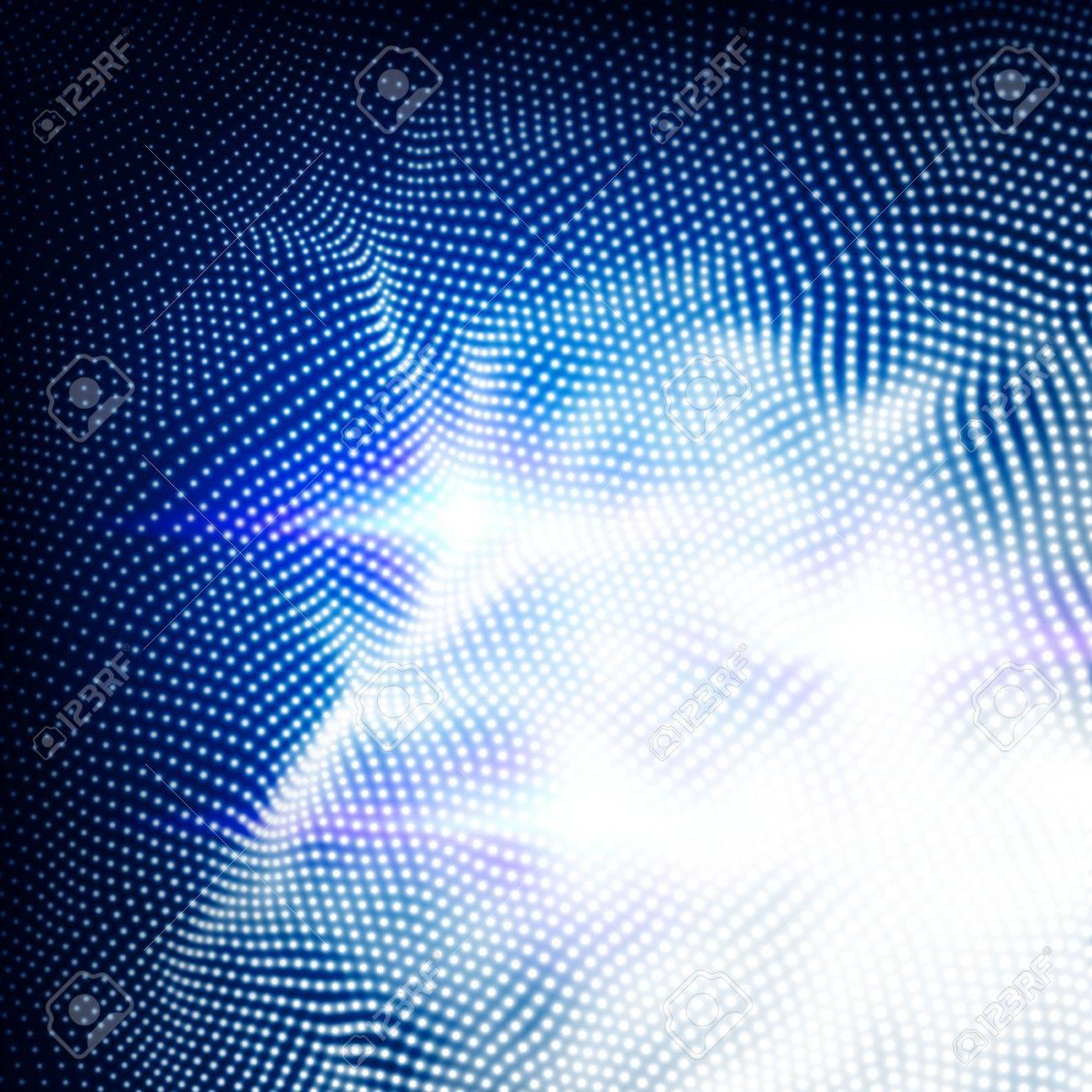 複数のドット粒子と抽象的な技術パターン カラフルな空間バースト背景