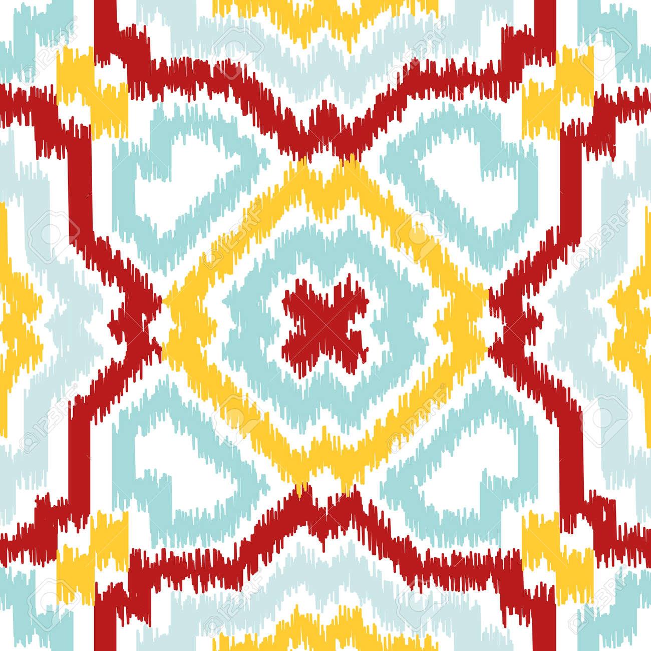 Forme Geometrique Transparente Basee Sur Le Style De Tissu Ikat