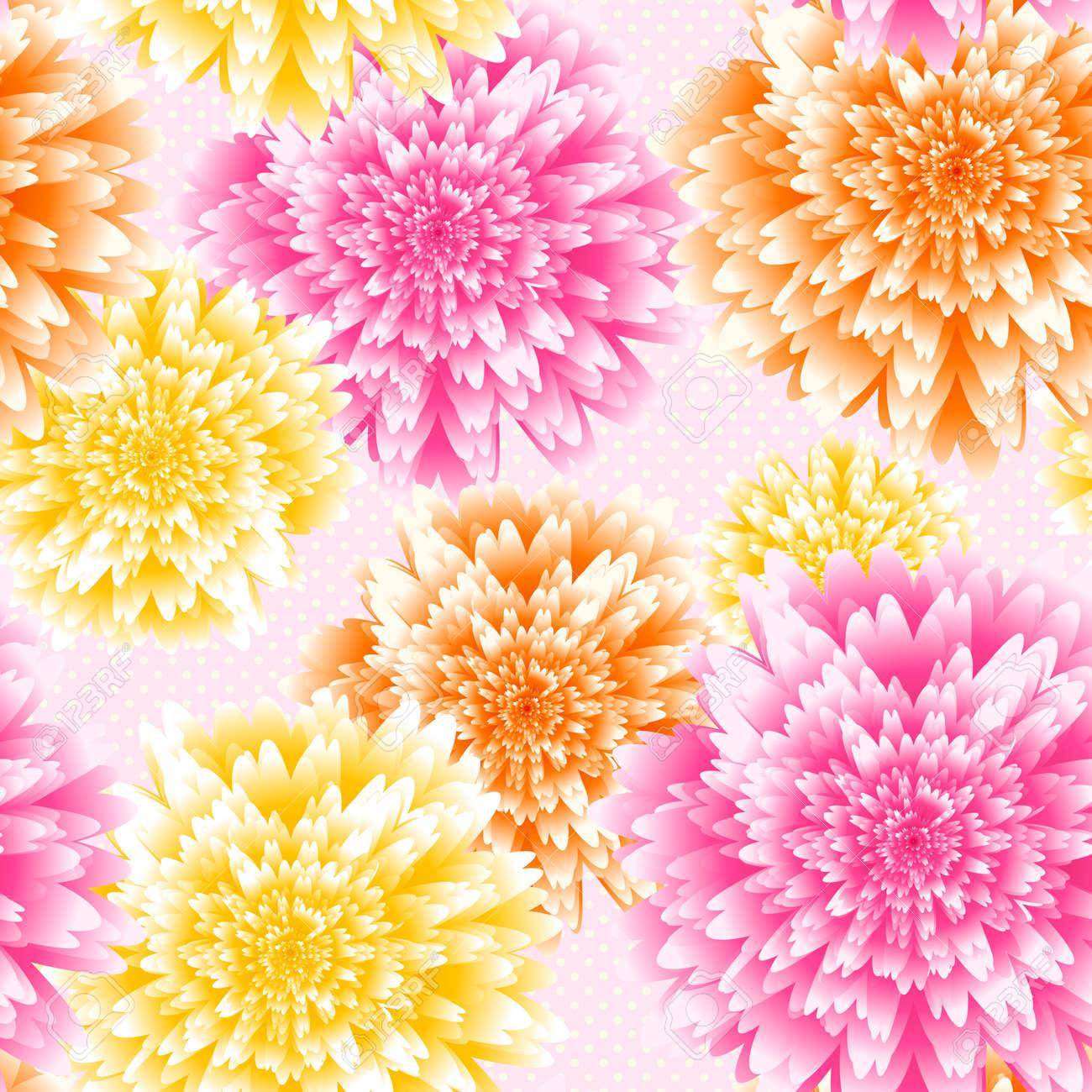 ベクトル菊の花背景。アスターの花のベクトル イラスト。結婚式の背景