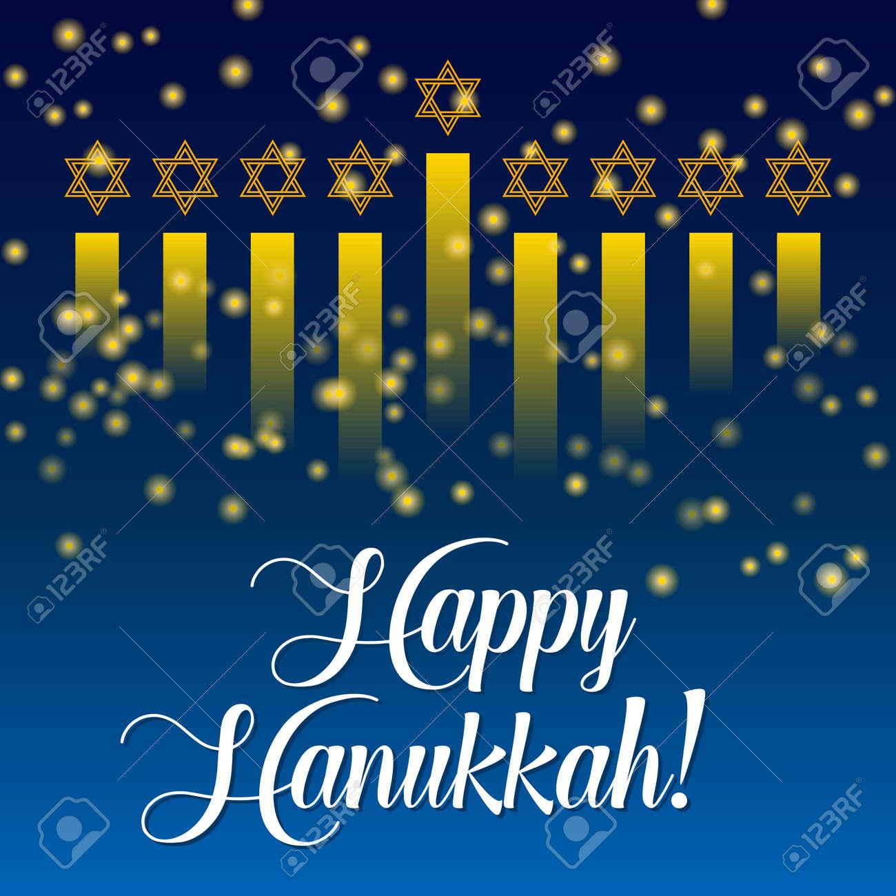 Happy hanukkah greeting card lights on dark background hanukkah happy hanukkah greeting card lights on dark background hanukkah party poster template or banner m4hsunfo