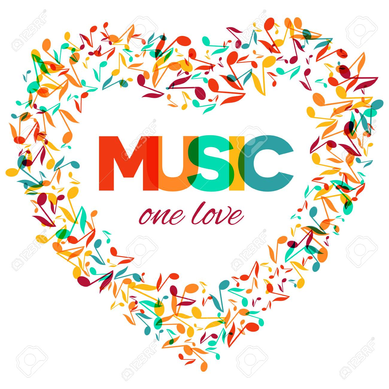 Colorful Music Event Notes Background Random Colored Music Festival